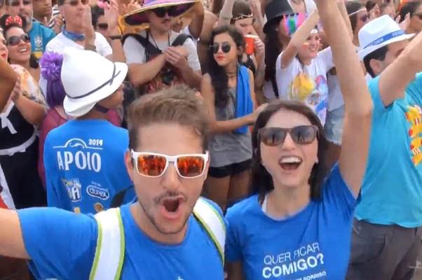 """Em episódio da websérie, os """"nômades"""" curtem carnaval do Rio de Janeiro (Foto: Reprodução/Youtube)"""