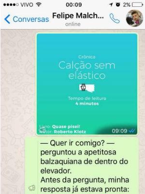 Projeto 'Leitura de Bolso', que envia trechos literários pelo celular (Foto: Divulgação)