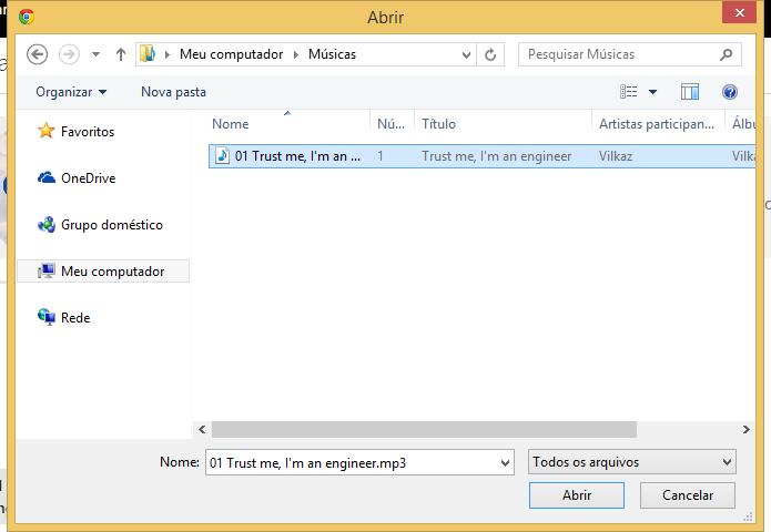 Selecione os arquivos que você quer enviar (Foto: Reprodução/Helito Bijora)