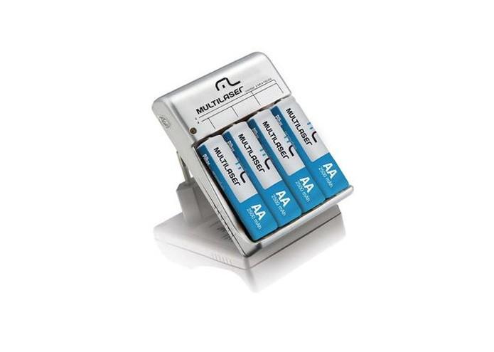 O carregador Multilaser possui indicador de LED que mostra quando a carga está completa (Foto: Divulgação)