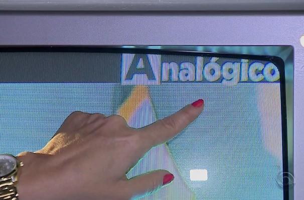 Teste mostra diferença na qualidade da TV digital para a TV analógica (Foto: Reprodução/RBS TV)
