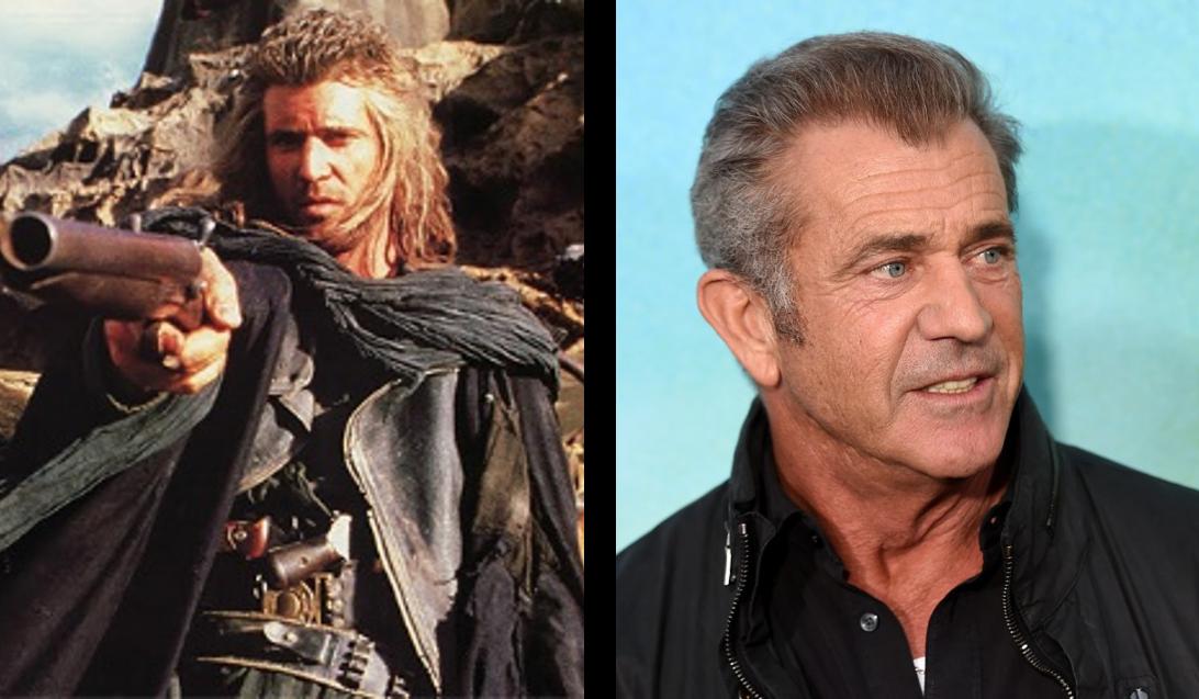 Mel Gibson em 1985 e 2015 (Foto: Divulgação)