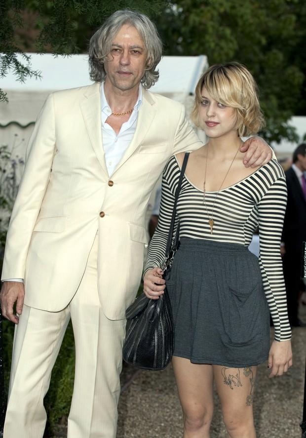 Peaches e o pai, Bob Geldof em julho de 2009 (Foto: Getty Images/Agência)