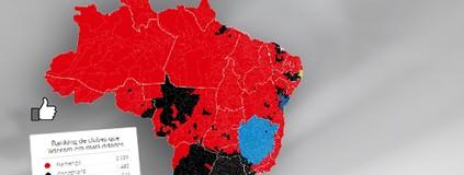 Confira o mapa das curtidas  do Figueirense no Facebook (infoesporte)