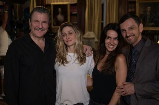 Antonio Calloni, Amora Mautner, Maria Camargo e Paulo Miklos (Foto: Arquivo pessoal)
