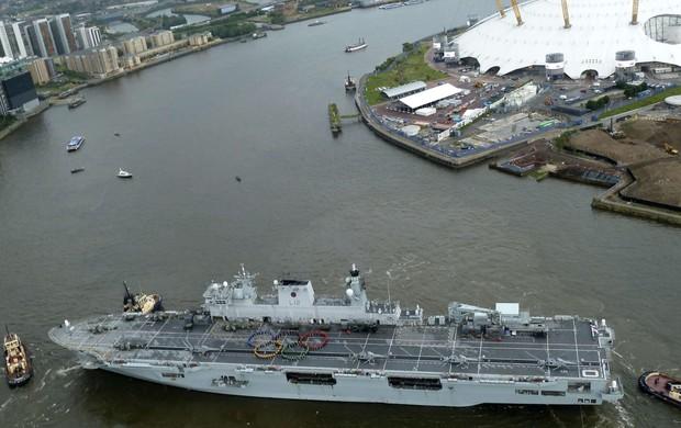 olimpíadas de londres navio real (Foto: Reuters)
