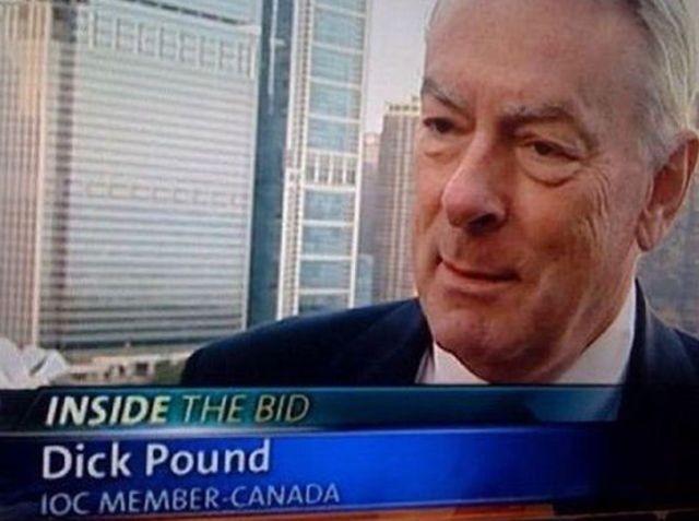 Pound = peso; dick = gíria para pênis