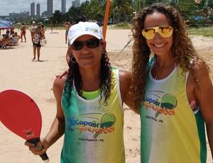Cláudia dos Santos e Kátia Freire (frescobol) (Foto: Lucas Barros / Globoesporte.com/pb)