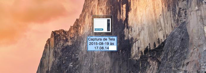 Descubra como remover a data e a hora das captura de tela do Mac (Foto: Reprodução/Edivaldo Brito)