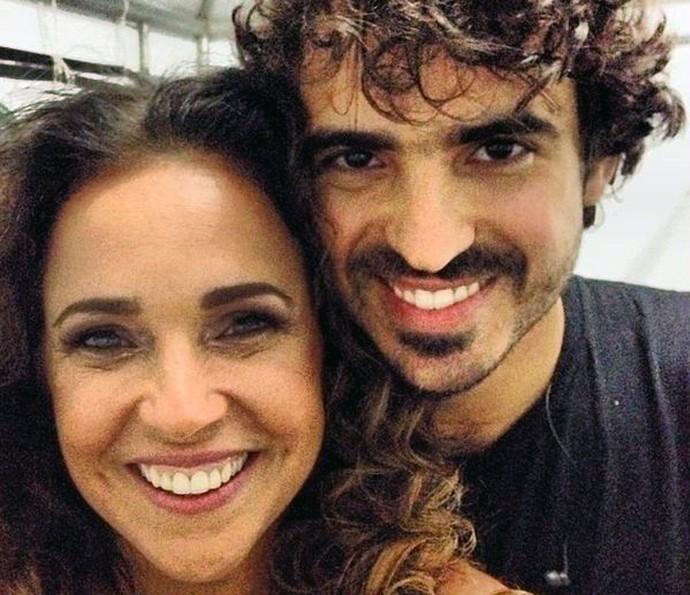 Daniela Mercury e o filho Gabriel Póvoas, de 30 anos (Foto: Arquivo Pessoal)