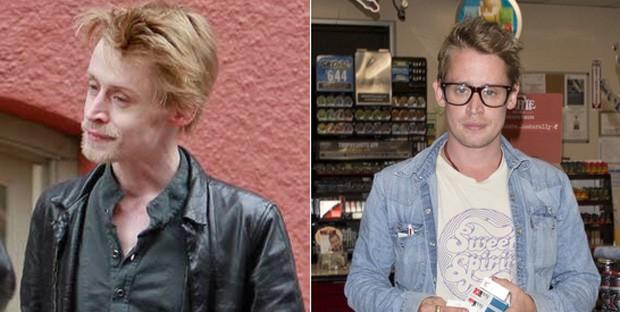 Macaulay Culkin antes e depois (Foto: Grosby Group)