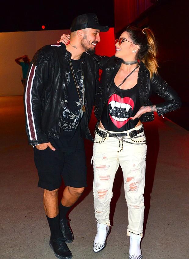 Aline Gotschalg e Fernando Medeiros (Foto: William Oda / AgNews)