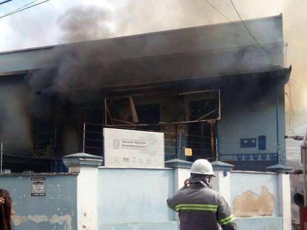 Incêndio Santos Dumont (Foto: Corpo de Bombeiros/Divulgação)