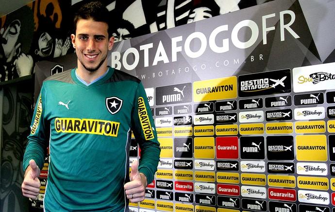 Helton Leite goleiro do Botafogo (Foto: Vitor Silva / SS Press)