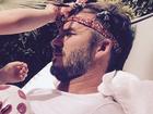 David Beckham posta foto com penteado feito pela filha