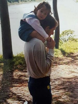 Pai de Fernanda morreu quando ela era criança (Foto: Fernanda Bertocco Melo/Arquivo pessoal)