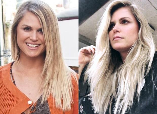 Susana Werner antes e depois de platinar os cabelos (Foto: Reprodução/Instagram)