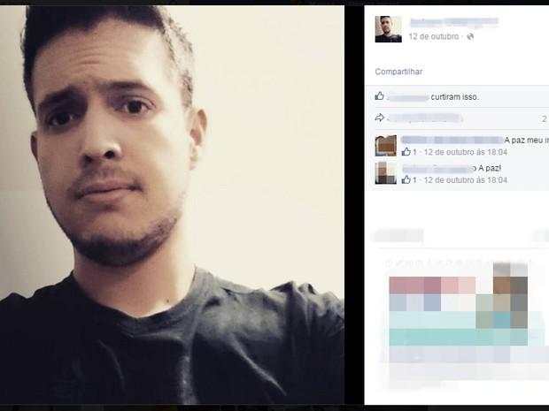 Jadson Gersogamo tinha 22 anos e morreu numa tentativa de assalto em Poá (Foto: Reprodução/ Facebook)