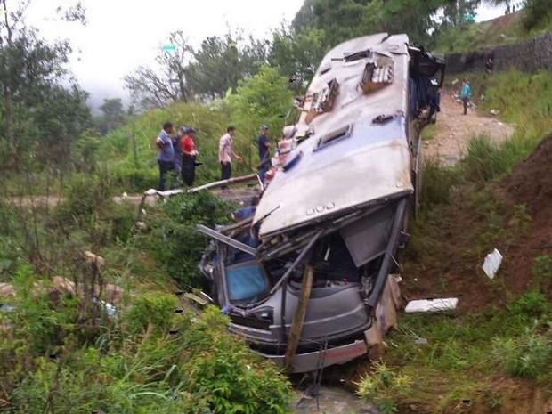 Acidente com ônibus em Santa Catarina (Foto: Batalhão de Operações Aéreas/Divulgação)