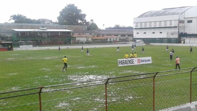 São Francisco e Pinheirense no estádio do Souza (Foto: Ascom São Francisco/Divulgação)