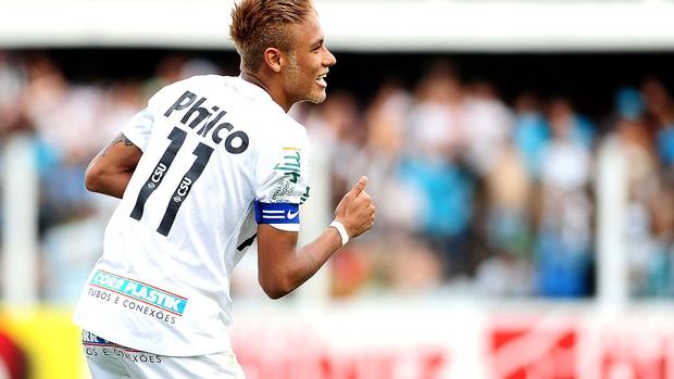 Neymar comemora gol do Santos contra o São Paulo (Foto: Marcos Ribolli / Globoesporte.com)