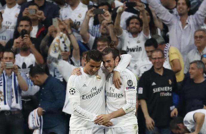 Cristiano Ronaldo e Bale Real Madrid x Manchester City (Foto: Reuters)