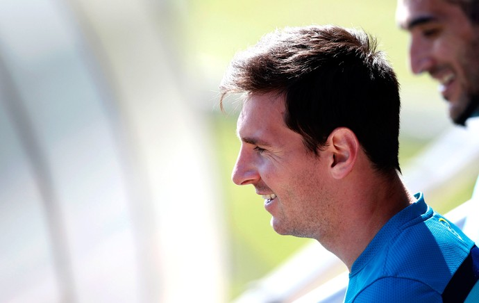Messi barcelona treino (Foto: REUTERS)