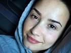 Demi Lovato compartilha foto sem maquiagem e ganha elogios: 'Linda'