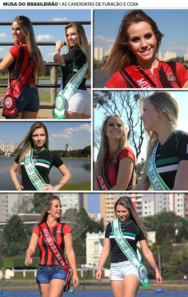 Musa do Brasileirão - Fernanda e Barbara - Atlético-PR x Coritiba mosaico (Foto: Fernando Araújo)
