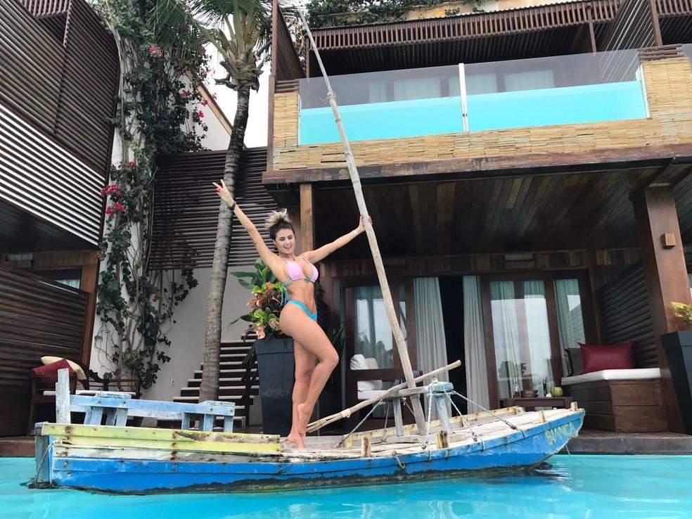 Natacha está curtindo as férias em Jericoacoara (Foto: Arquivo Pessoal )