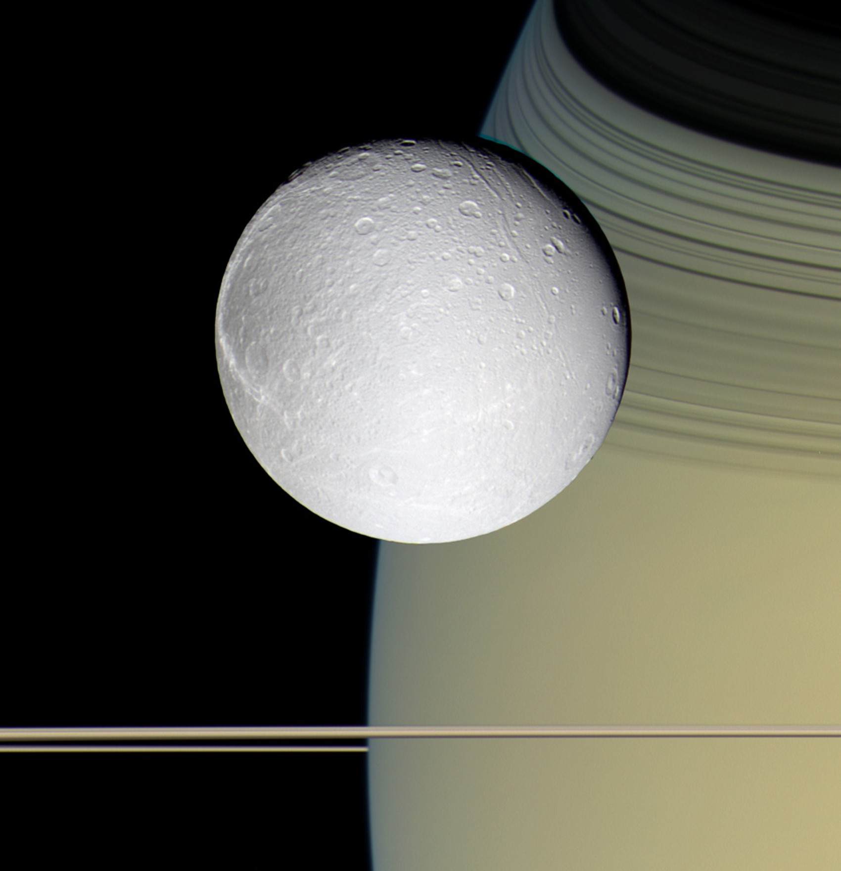 Dione e Saturno