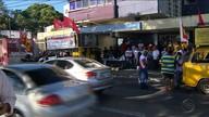 Manifestantes fazem protesto contra a reforma da Previdência