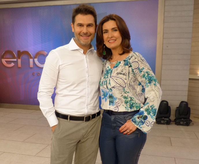 Fátima com o parceiro, o Dr. Fernando Gomes (Foto: Viviane Figueiredo Neto/Gshow)