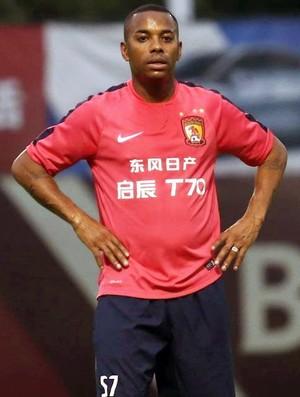 Robinho, Guangzhou Evergrande (Foto: Reprodução/Sina.com)