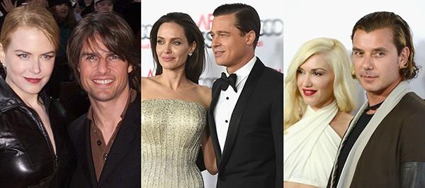 Nicole Kidman e Tom Cruise, Brad Pitt e Angelina Jolie, Gwen Stefani e Gavin Rossdale (Foto: Getty Images)