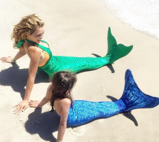 Thalia e sua cauda de sereia (Foto: Reprodução / Instagram)