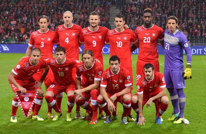 Seleção da Suíça nas eliminatórias (Foto: Getty Images)