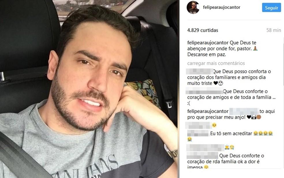Cantor Felipe Araújo lamentou morte de Didi Latino (Foto: Reprodução/Instagram)