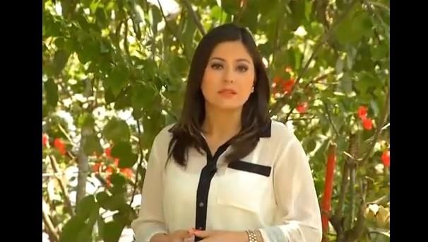 Apresentadora Tatiane Santos (Foto: Reprodução / TV Diário)