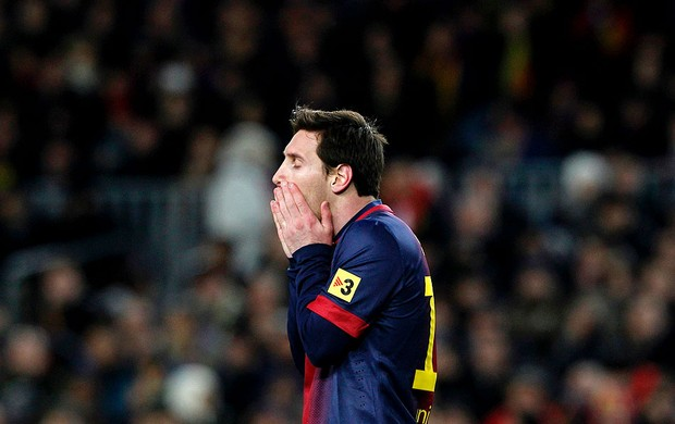 Messi na partida do Barcelona contra o Real Madrid (Foto: Reuters)