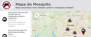 Mapa do Mosquito: registre sua boa ideia ou possíveis focos do Aedes aegypti no Paraná (Arte / RPC)