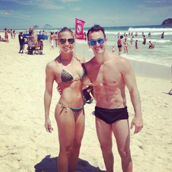 Diego Hypolito praia branca ginastica nado sincronizado (Foto: Reprodução/Instagram)