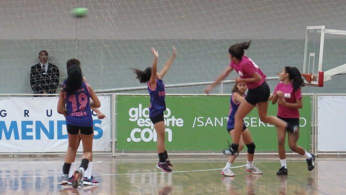 Final feminina da série ouro da Copa TV Tribuna de Handebol Escolar (Foto: Ivair Vieira Jr)