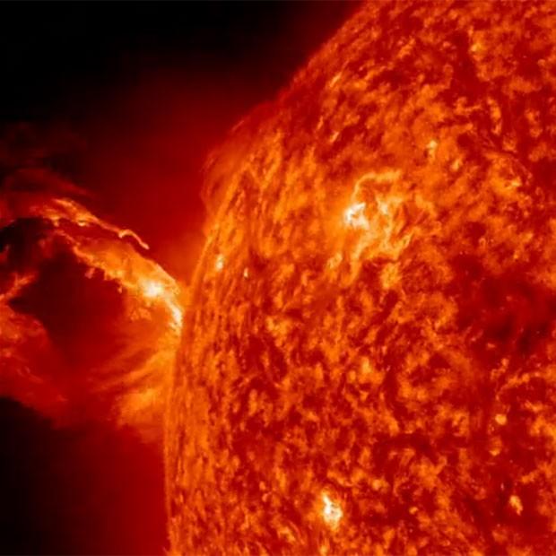 Explosão solar foi registrada por instrumentos da Nasa na última quarta-feira (1º) (Foto: Divulgação/Nasa/SDO)