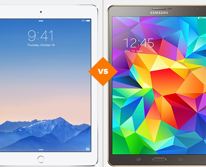 Comparativo Galaxy Tab S x iPad Air 2 (Foto: Arte/TechTudo)
