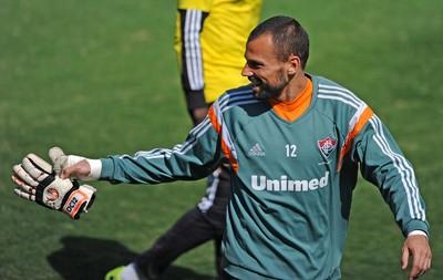 Diego Cavalieri, treino Fluminense (Foto: Moysés Fermann / Photocâmera)
