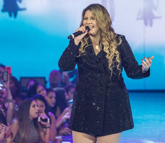 Marília Mendonça arrasou cantando 'Infiel' (Foto: Artur Menine/Gshow)
