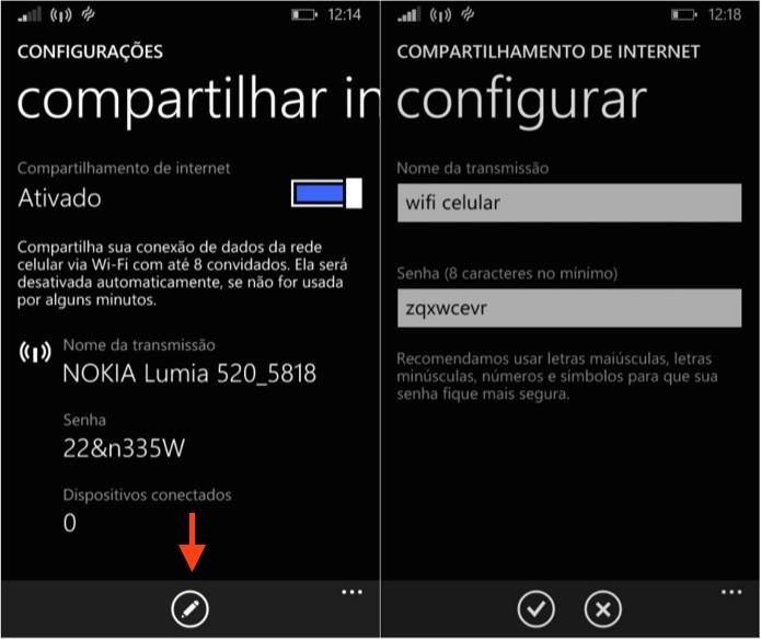 Configurando compartilhamento de internet (Foto: Reprodução/Helito Bijora)