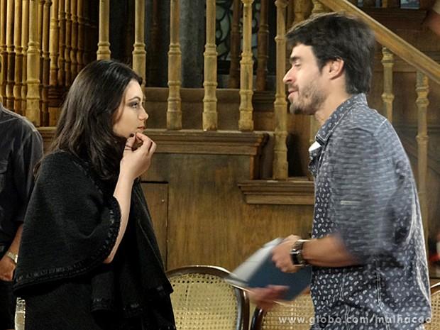João Luiz convida Diva para um cineminha depois da aula (Foto: Malhação / TV Globo)