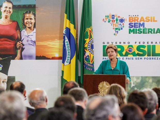 A presidente Dilma Rousseff durante evento de anúncio de ampliação do Bolsa Família (Foto: Roberto Stuckert Filho / Presidência)